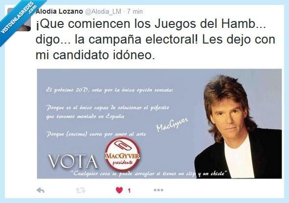 candidato,elecciones,macgyver,mcgyver,votaciones