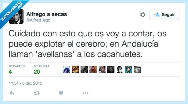 Andalucía,avellana,cacahuete,por qué,wtf