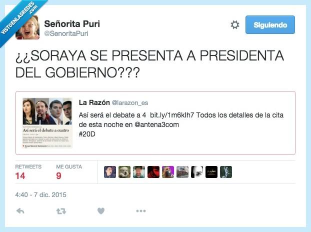 debate,gobierno,presidenta,Soraya Saez de Santamaría