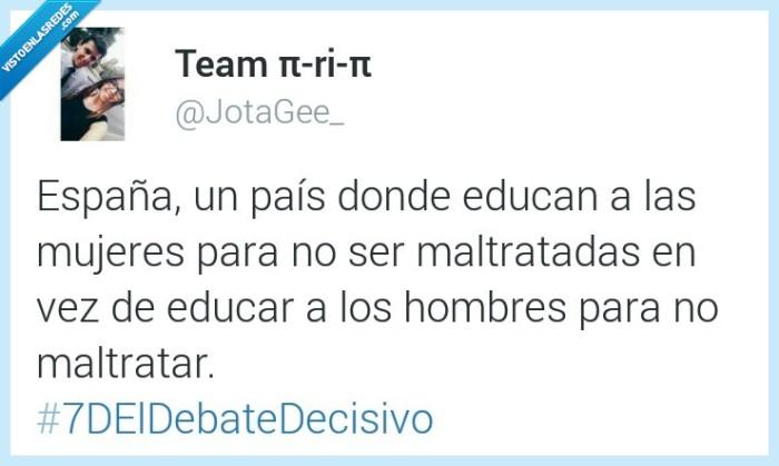 donde educar,educar,España,maltratada,maltratar,mujer,pais,pandereta