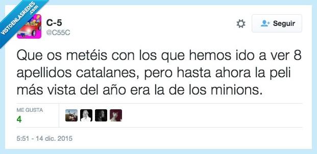 apellidos,catalanes,meteis,meter,minions,Ocho apellidos catalanes,película,ver,visto