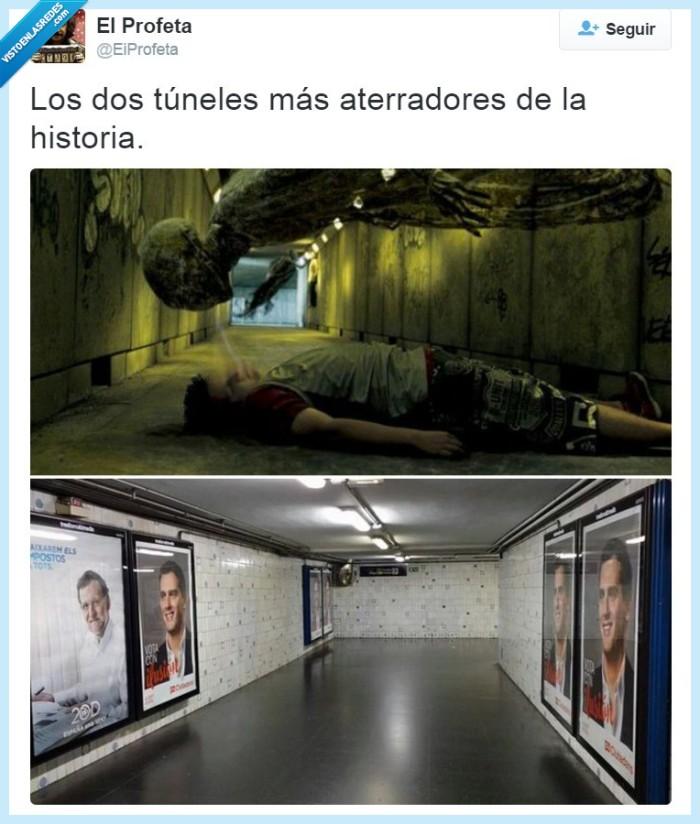 20D,Albert Rivera,Ciudadanos,Dementores,Harry Potter,metro,pasillo,PP,Rajoy,tunel