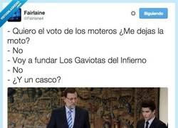 Enlace a Rajoy ahora quiere el voto de los moteros por @Fairlane4