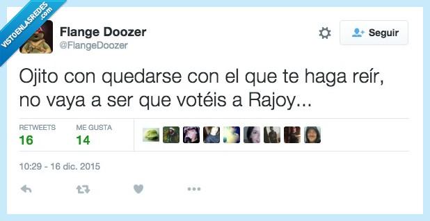 elecciones,hace,hacer,ojito,ojo,quedar,Rajoy,reir,votar
