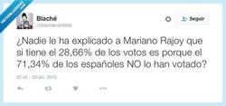 Enlace a Y se atreve a decir que la mayoría de los españoles lo han elegido por @blachecontilde