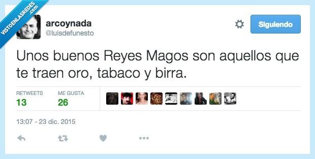 birra,incienso,mirra,oro,Reyes Magos,tabaco