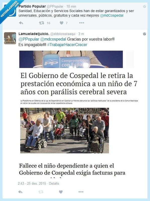 Cospedal,España,No hay vergüenza,Partido Popular,PP,Zasca