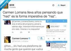 Enlace a Oye, que es verdad y @Carmen_Lomana no se ha enterado de lo de HAZ por @zubete