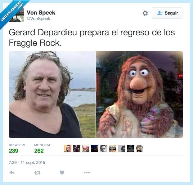fRaggle Rock,Gerard Depardieu,igual,preparar,regreso,vlacado