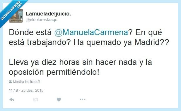 Ahora Madrid,Manuela Carmena,Oposición eficiente,Partido Popular,PP
