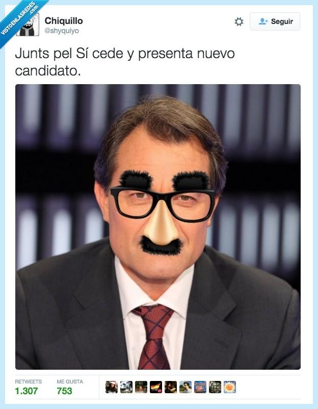 Artur Mas,cup,disfraz,gafas,junts pel sí,jxsi,si cuela cuela,votar