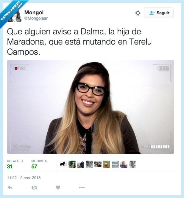 Campos,Dalma,hija,Maradona,mutando,mutar,Terelu