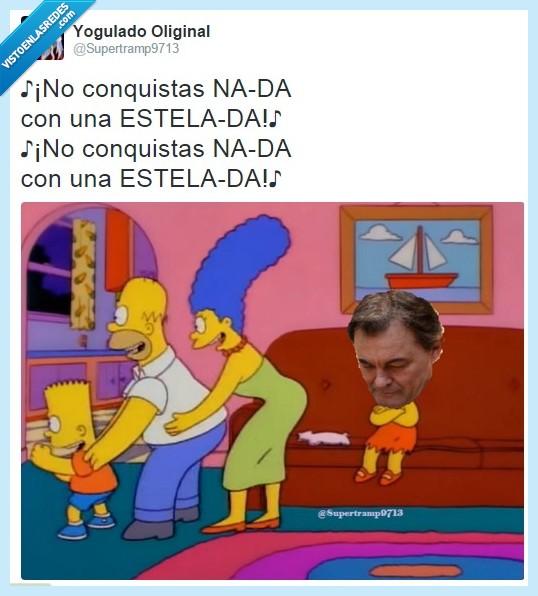 Artur Mas,Cataluña,CUP,los Simpson
