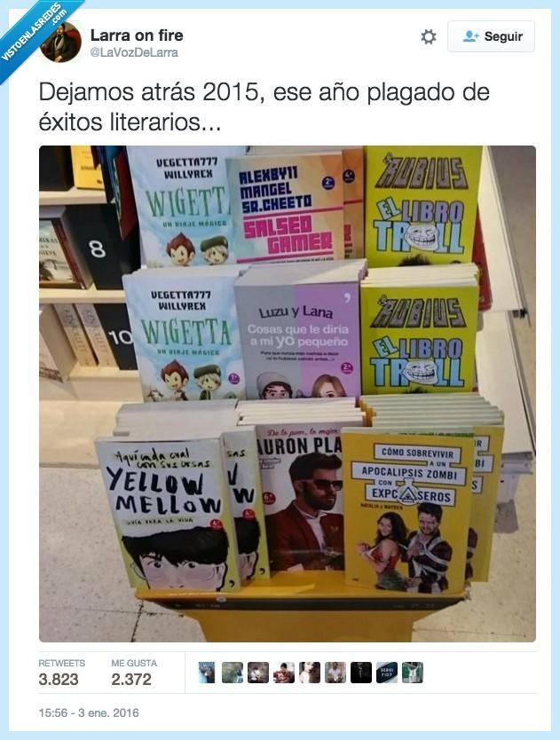 auronplay,el rubius,exito,libro,literario,literatura,momento,vegetta777,yellow mellow,youtuber