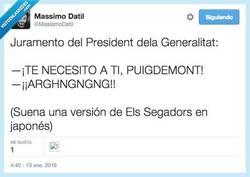 Enlace a ¡Un Puigdemont salvaje apareció! por @MassimoDatil