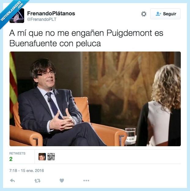 Buenafuente,Cataluña,peluca,presidente,Puigdemont