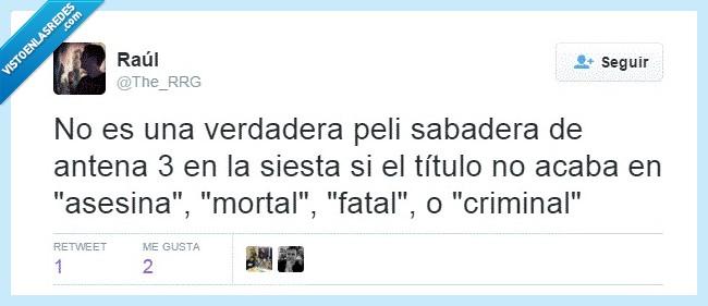 antera 3,asesina,criminal,drama,fatal,mala,mortal,peliculas,sabadera,sabado