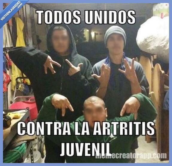 artritis,compartido,dedo,euro,invertir,investigacion,juvenil,pandillero,signo