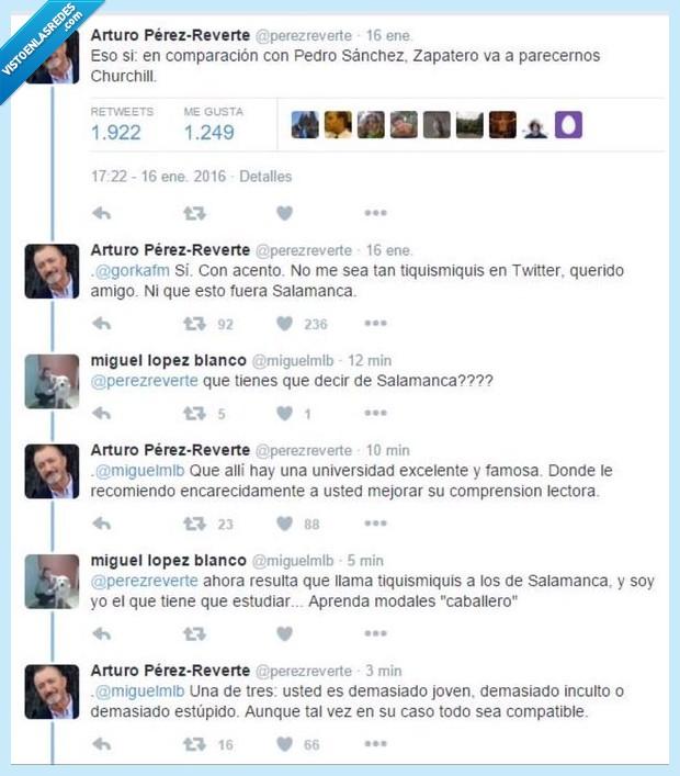 borrar,corregir,cuenta,equivocación,ortografía,Pérez-Reverte,Salamanca,twitter,universidad