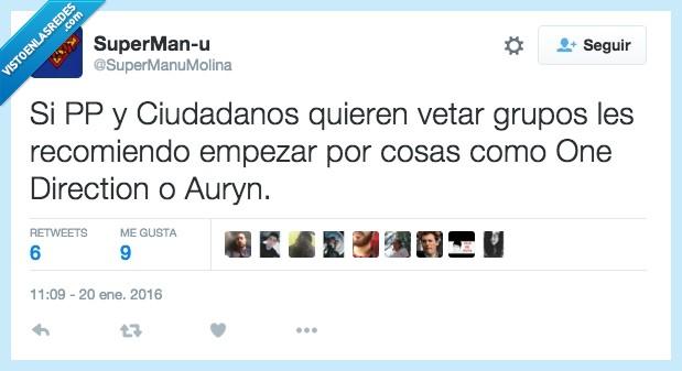auryn,ciudadanos,congreso,grupo,música,one direction,pp,vetar