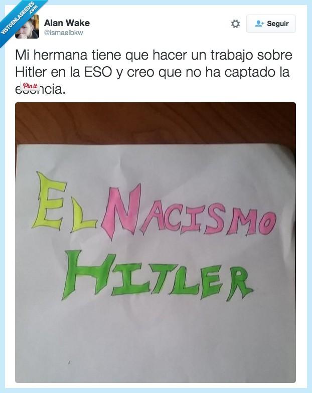 colorines,esencia,hermana,Hitler,nacismo,nazismo,portada,trabajo
