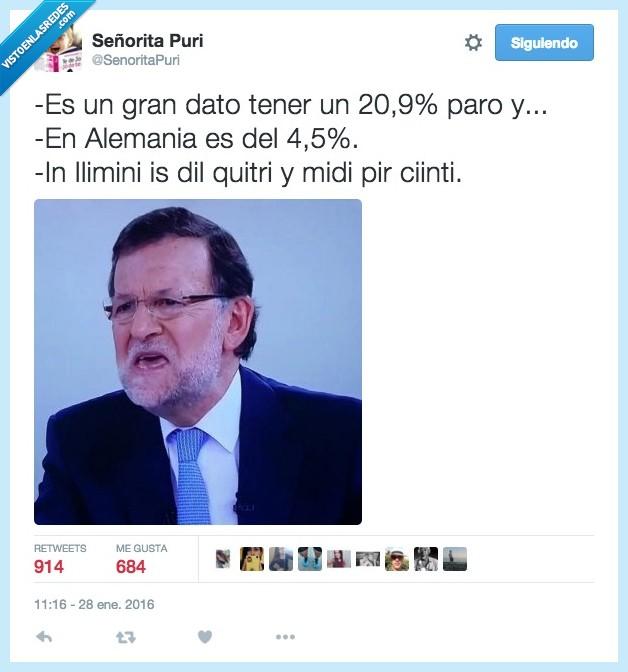 Alemania,burla,comparar,dato,Ilimini,Mariano Rajoy,paro