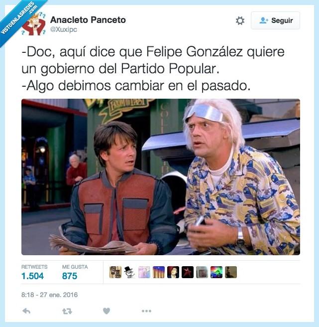 cambios,Felipe González,gobierno,Partido Popular,PSOE,querer