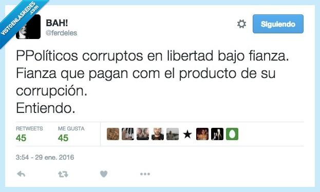 corruptos,fianza,libertad,pagar,políticos,PP