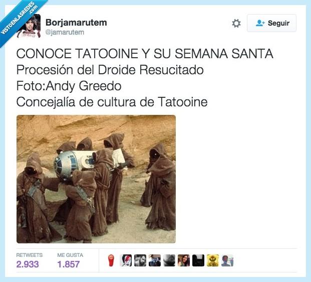droide,jawa,procesión,r2d2,santa,semana,Tattooine