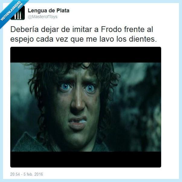 dientes,El Señor de los Anillos,Ella-laraña,espuma,Frodo,imitar