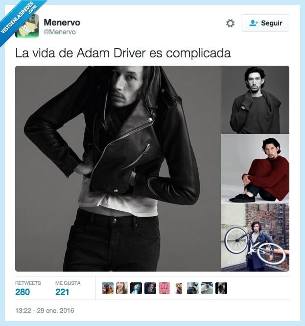 Adam Driver,chaqueta,dura,fotógrafo,modelo,ropa,vestir,vida