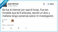Enlace a Cuando no hay internet pasan cosas maravillosas por @Juani_Herrera