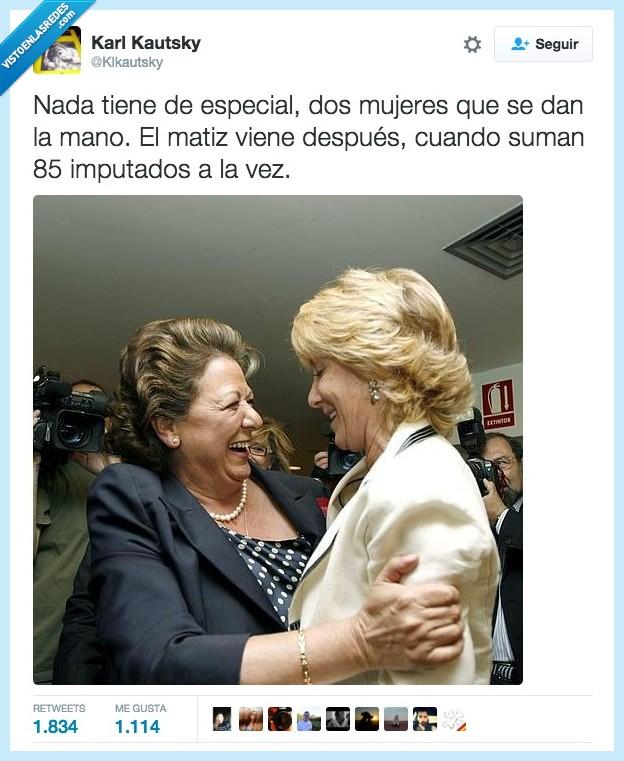 amor,dimisión,Esperanza Aguirre,mecano,mujer contra mujer,Rita Barberá