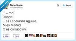 Enlace a Ya lo dijo Einstein hablando de la corrupción en Madrid por @Superlopezxxl