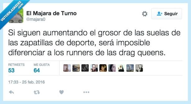 bambas,correr,deportivas,drag queen,runner,suela,tenis,zapatillas