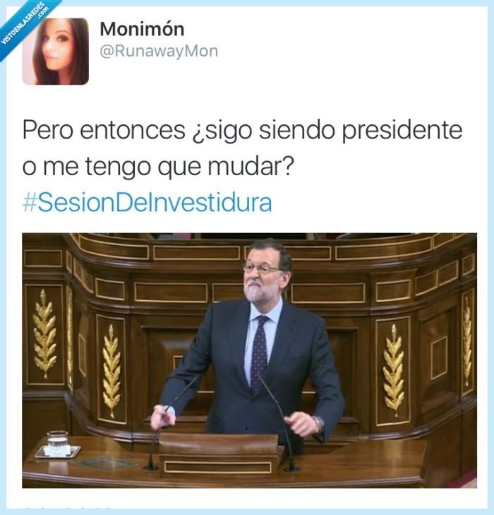 investidura,Mariano Rajoy,moncloa,mudar,presidente