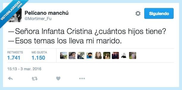 Cristina,hijos,Infanta,juicio,llevar,marido,mujer,noos,pregunta,tema