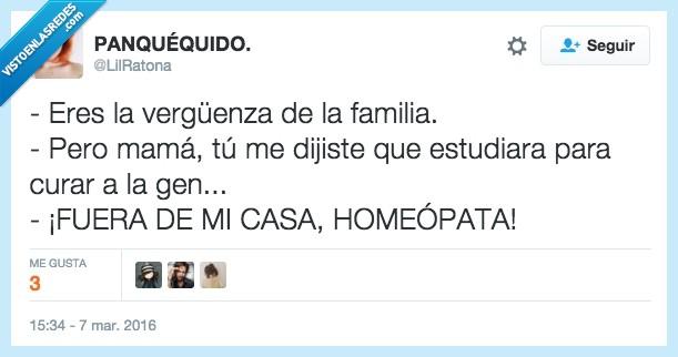 curar,doctor,familia,gente,homeopata,homeopatía,médico,vergüenza