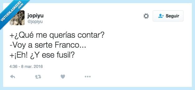 España,Franco,fusil,guerra,ser