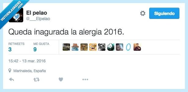 2016,alergia,antihistamínico,inaugurada,llorar,mocos,temporada,tos