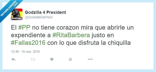 abrir,chiquilla,corazón,divertir,expediente,fallas,godzilla,rita,Rita Barberá,Valencia