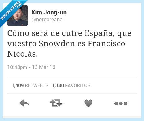 cutre,el pequeño nicolás,España,filtración,Francisco Nicolás,Snowden