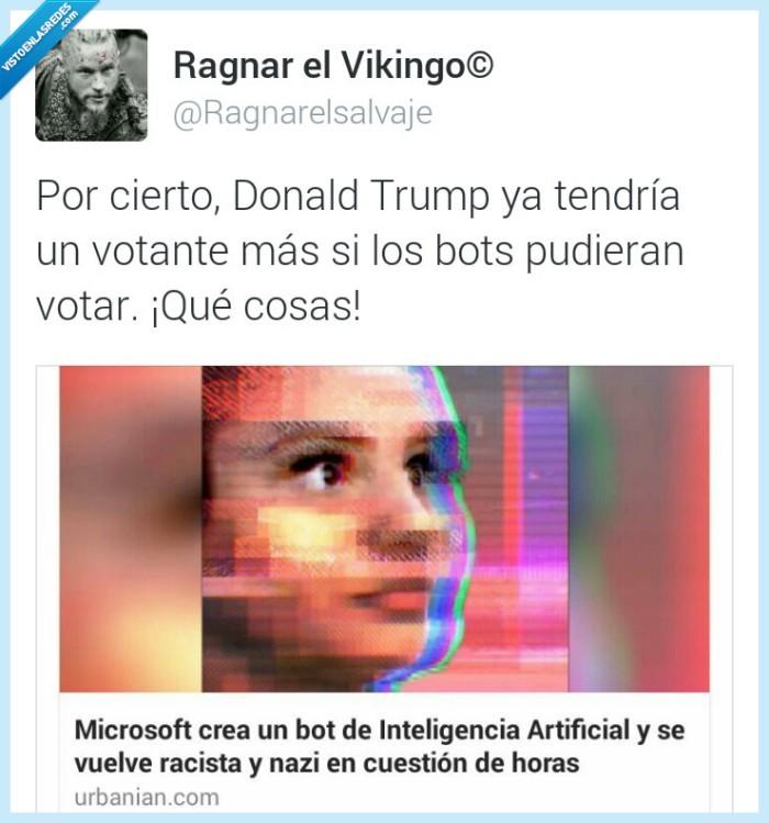 bot,horas,inteligencia artificial,microsoft,nazi,racista
