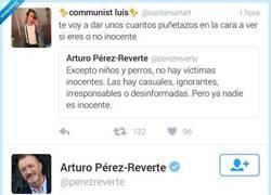 Enlace a Arturo Pérez-Reverte imponiendo su dialéctica... por @perezreverte