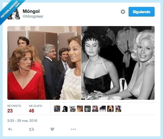 actriz,Ana Botella,celos,envidia,igual,Isabel Preysler,mirada,Sofia Loren