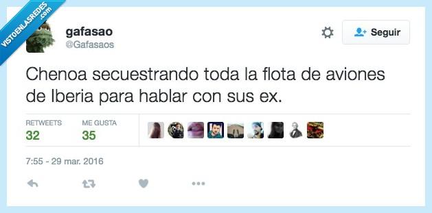 amor,avión,bisbal,chenoa,ex,Iberia,secuestrar