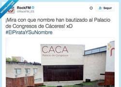 Enlace a No es broma, se llama CACA de verdad por @RockFM_ES