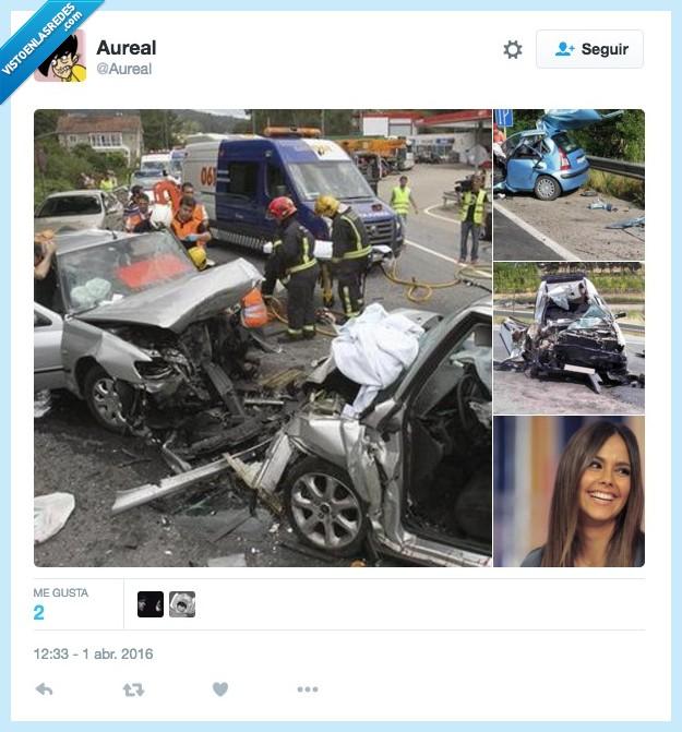 accidente,coche,conducir,Cristina Pedroche