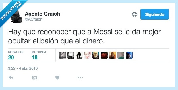 balón,dinero,mejor,Messi,ocultar,reconocer