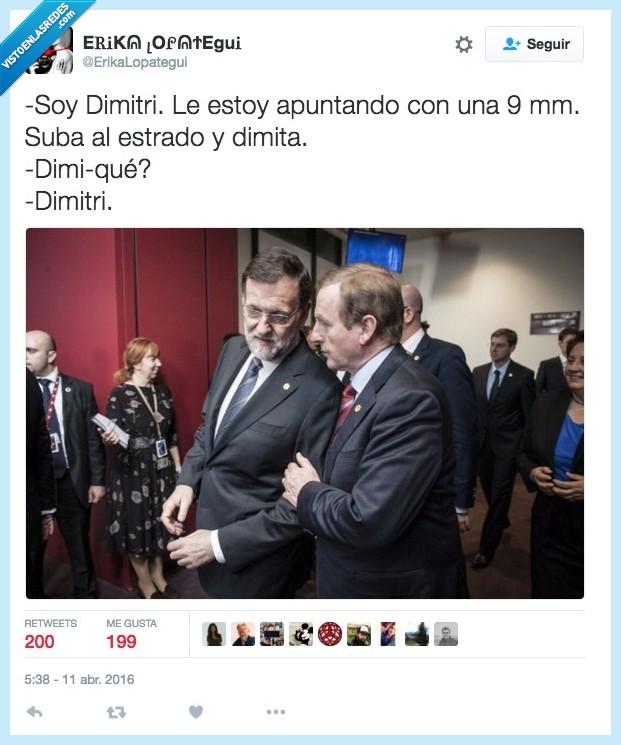 dimitir,dimitri,estrado,pistola,Rajoy
